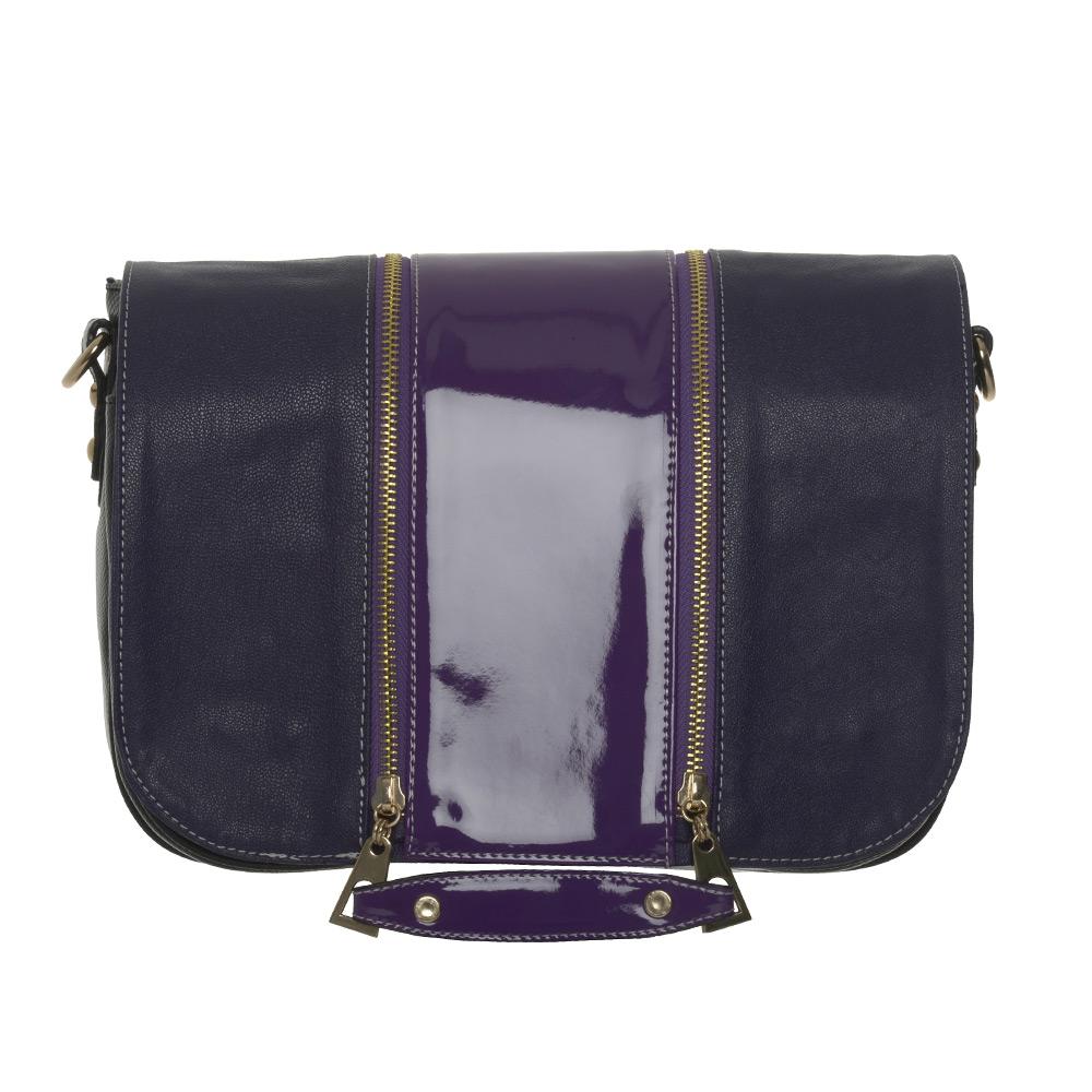 Pinkfarbenes Design mit Pink Lack streifen für die Handtasche  soft Bag