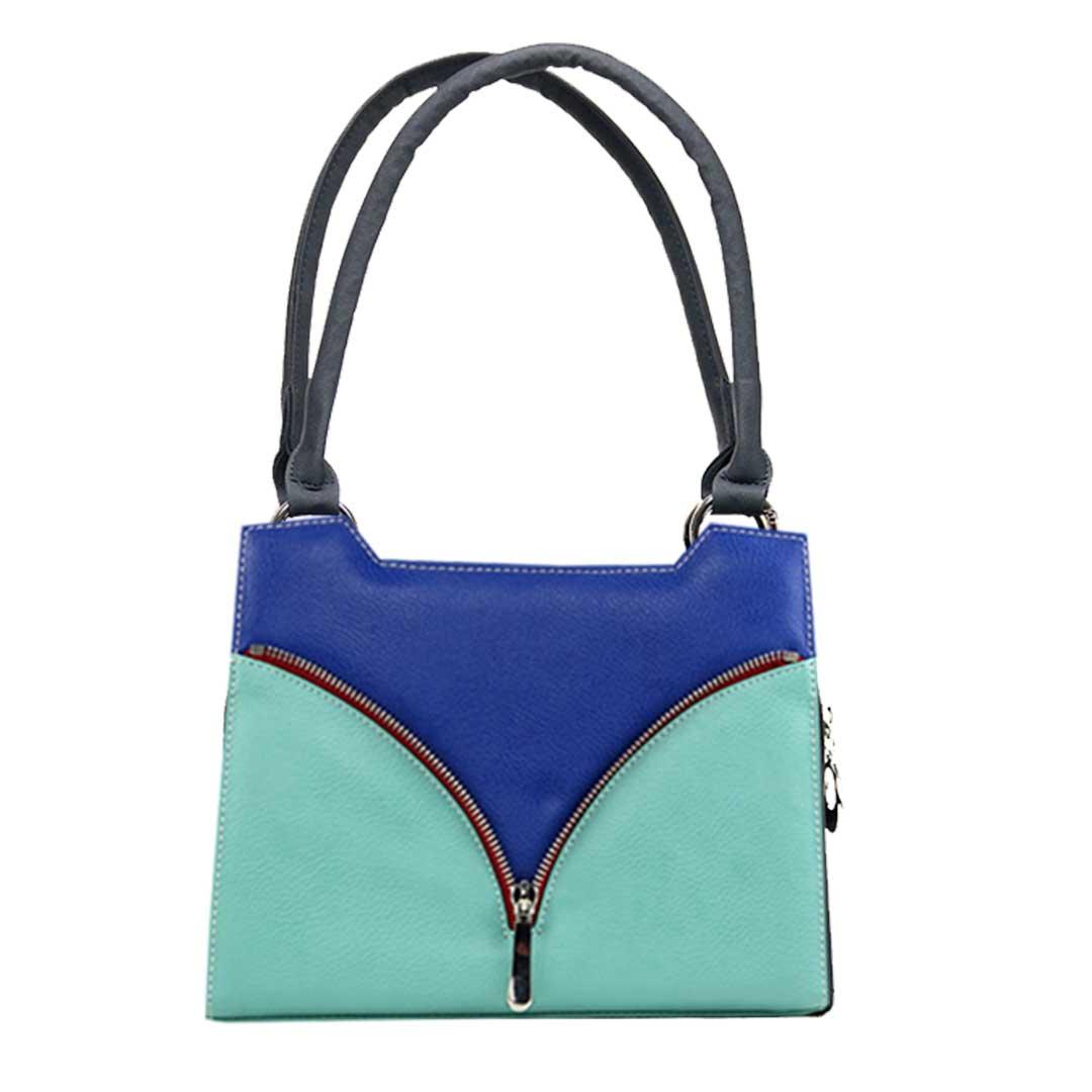 Mini Handtasche mit grün blauen Design Tonga