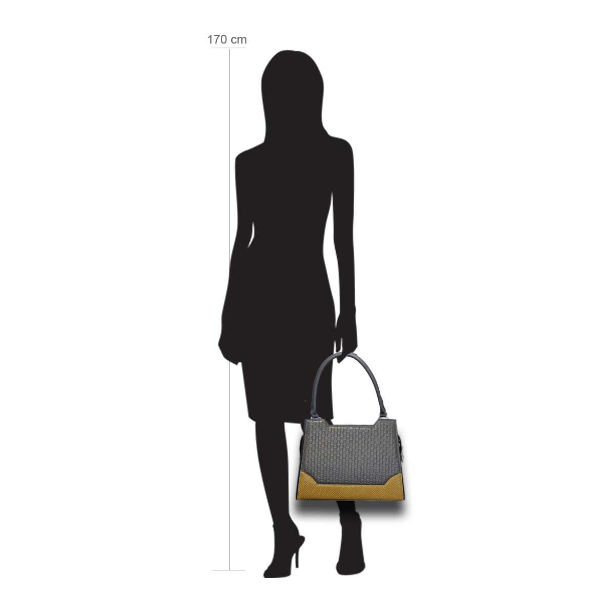 Delieta Puppe  170 cm groß mit Handtasche Modell:Brüssel gelb