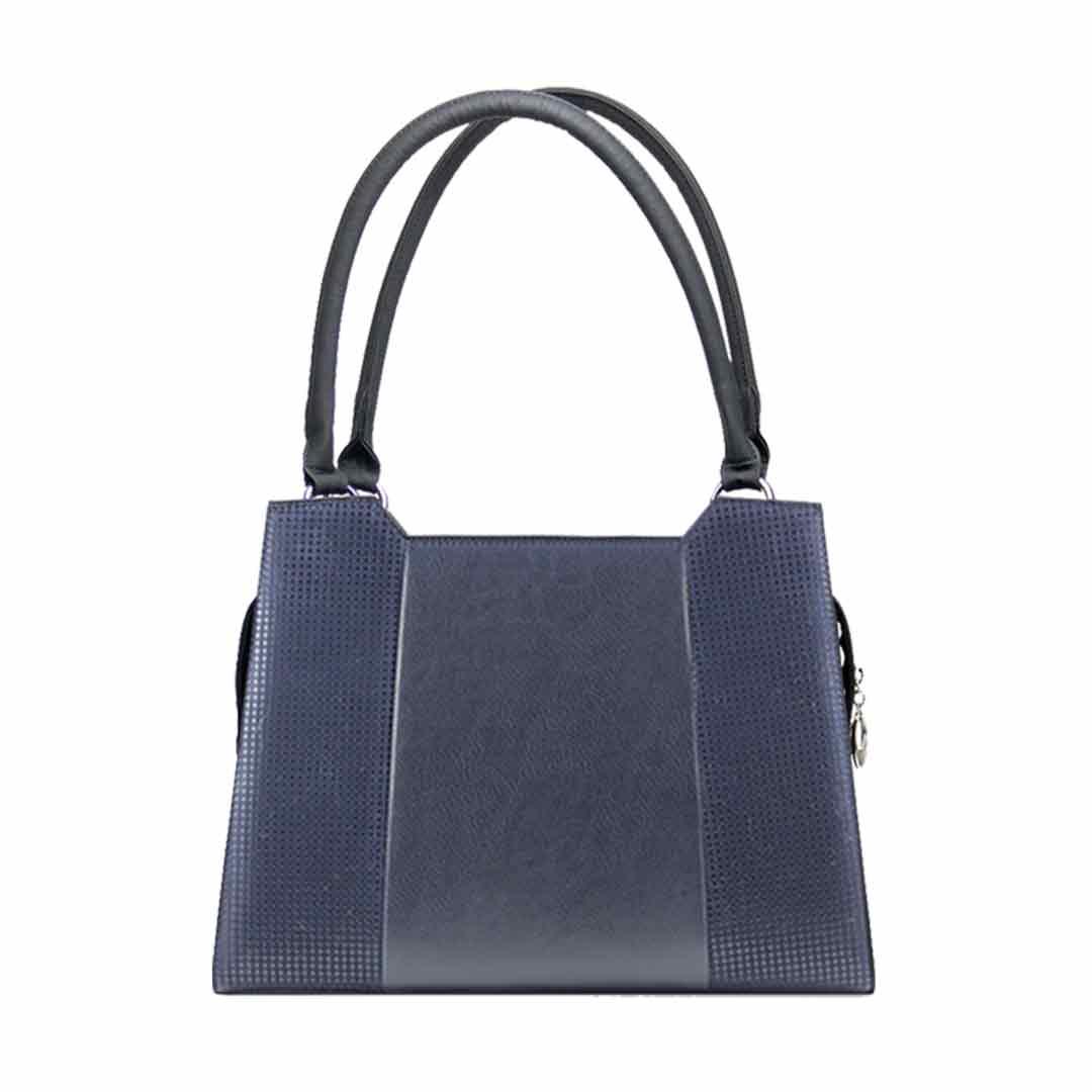 Dunklebluae Damenhandtasche elegance Komplet Set