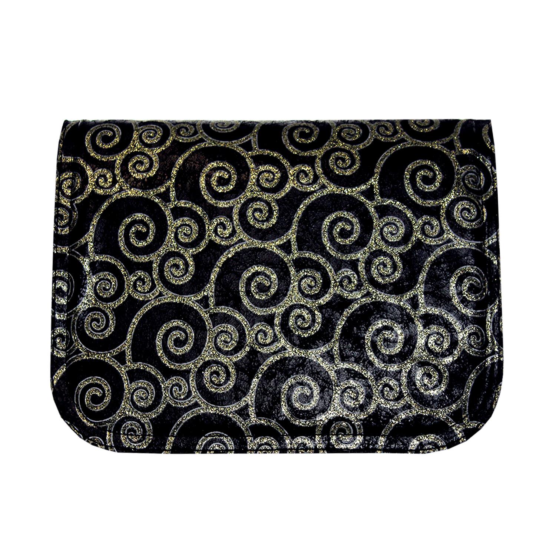 Wechseldesign in schwarz mit goldfarbenen Muster für die Handtasche von Delieta soft