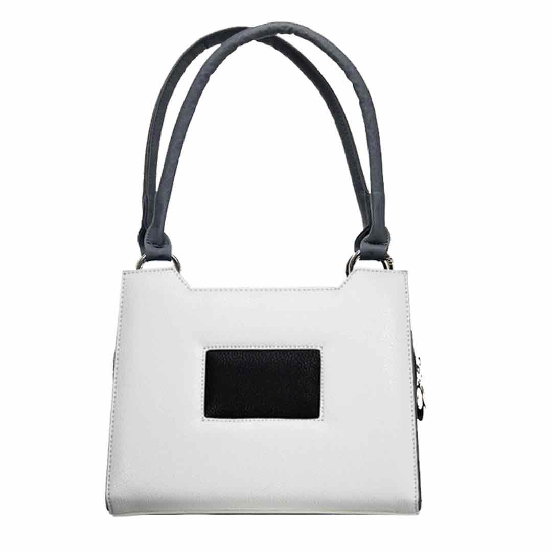 weiße Handtasche mit schwarzen Karo Deliet mini Komplett Fairbanks