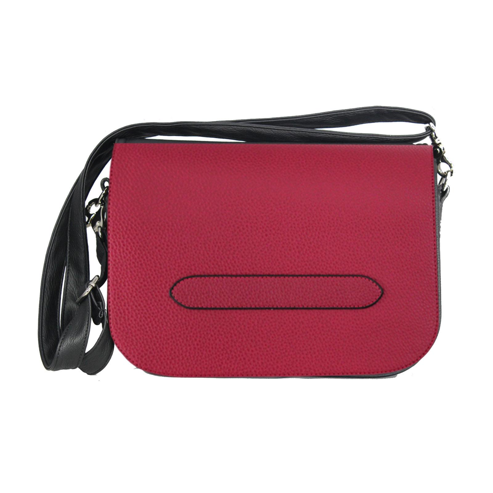 dunkelrotes Wechseldesign als Komplett Set soft Handtasche