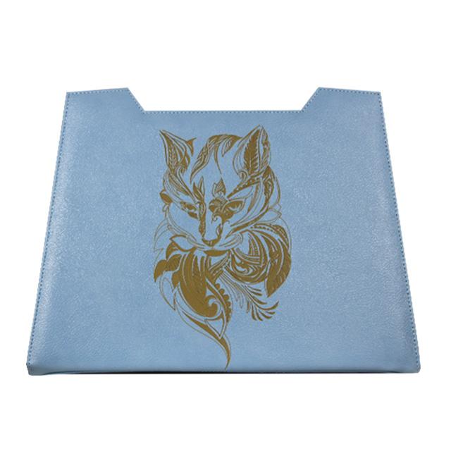 Mandala Katze als Lasergravur  Grundfarbe Zartblau