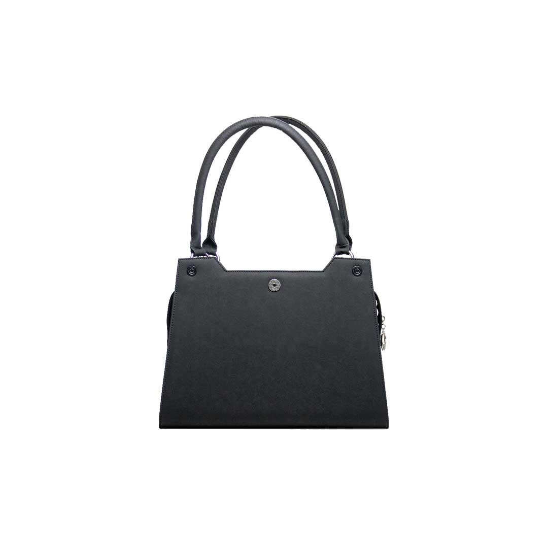 Frontansicht schwarze Handtasche elegance