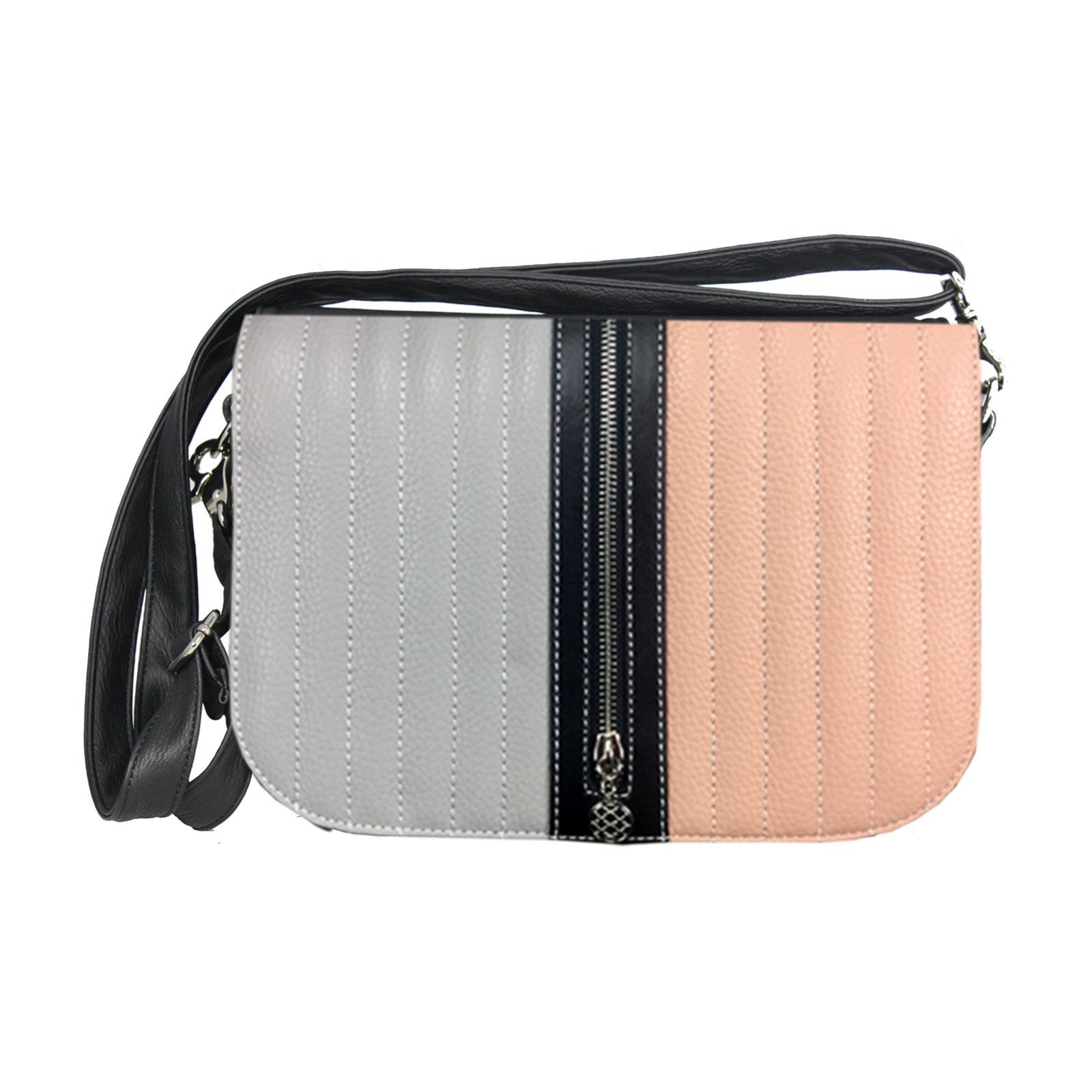 grau rosa HandtaschenKomplettset im Angebot