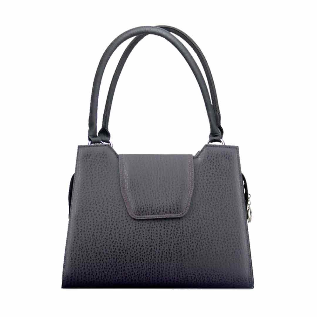 Brombeerfarbene klassische Handtasche elegance Cancun komplett