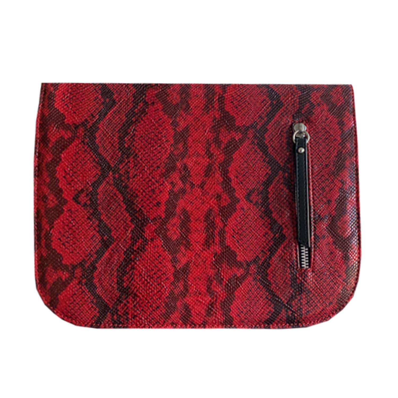 Rot und Schwarz im Animalprint Design für die Damenhandtasche von Delieta soft