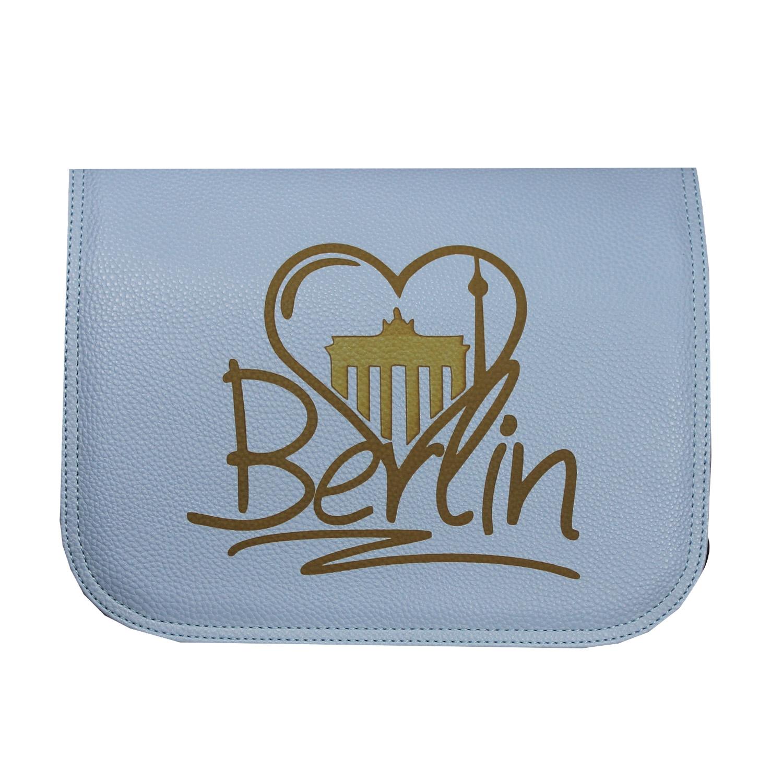 Unikat mit Lasergravur Berlin  für Damenhandtaschen von Delieta