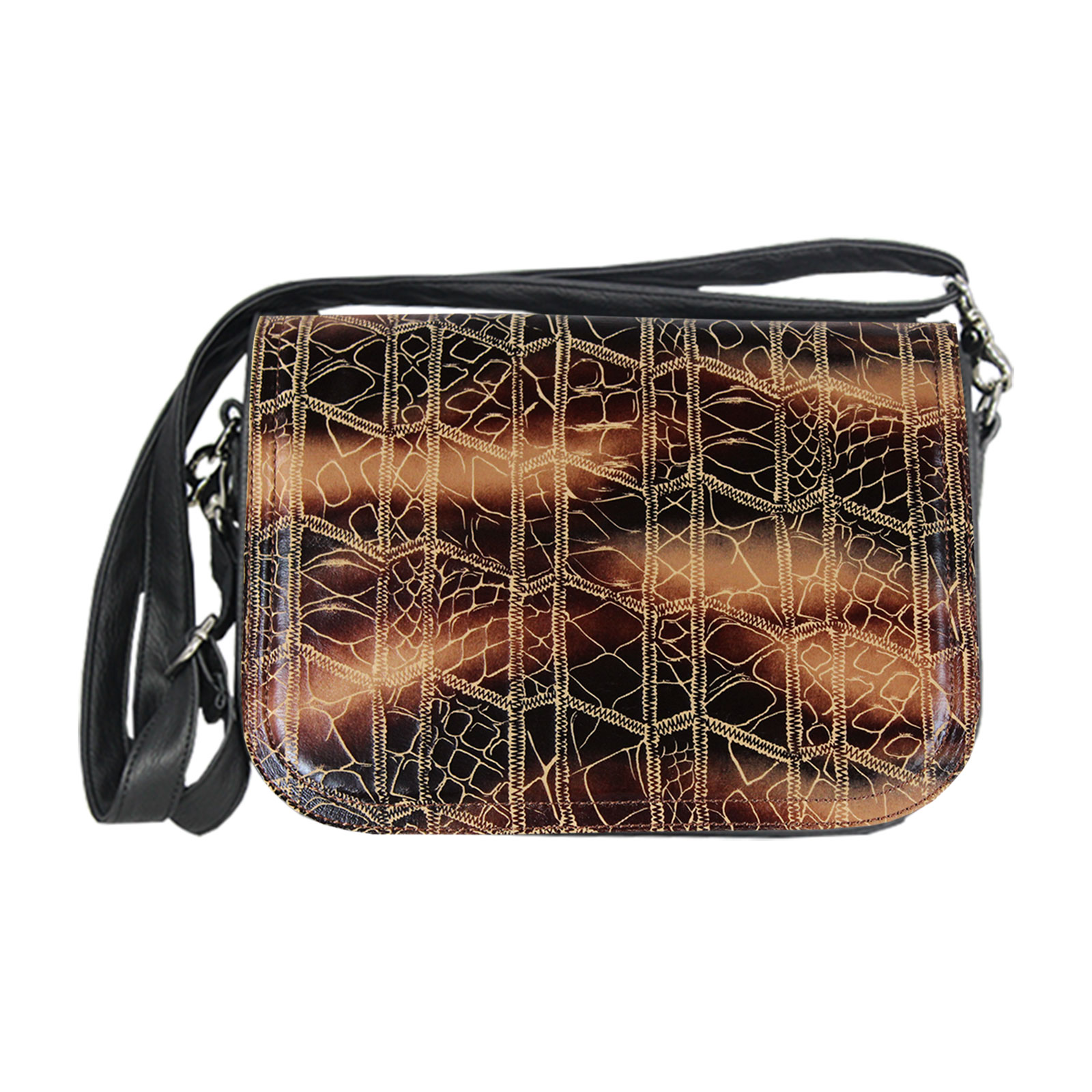 goldbraune Damenhandtasche soft im Set