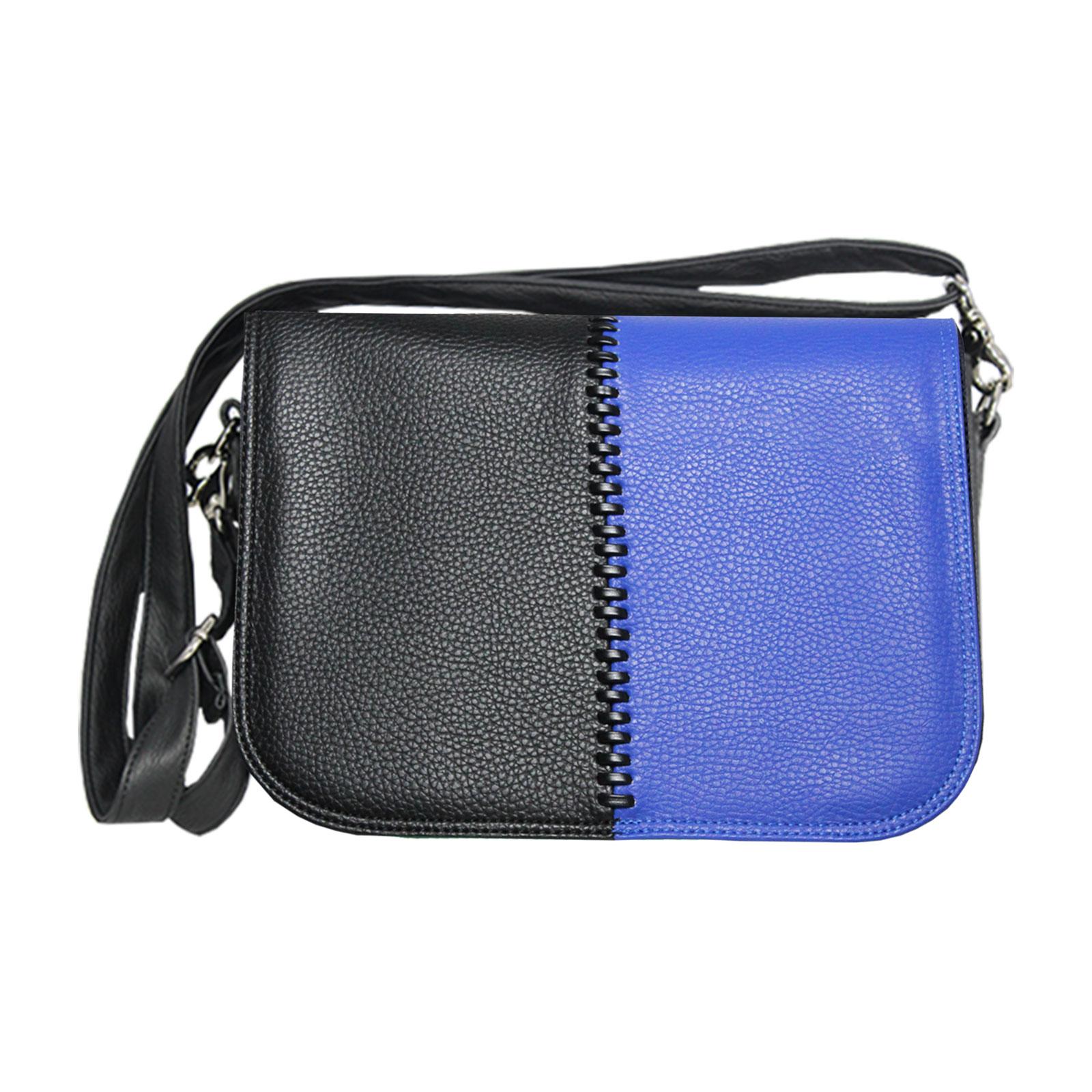schwarz blaue Handtasche cross over Style