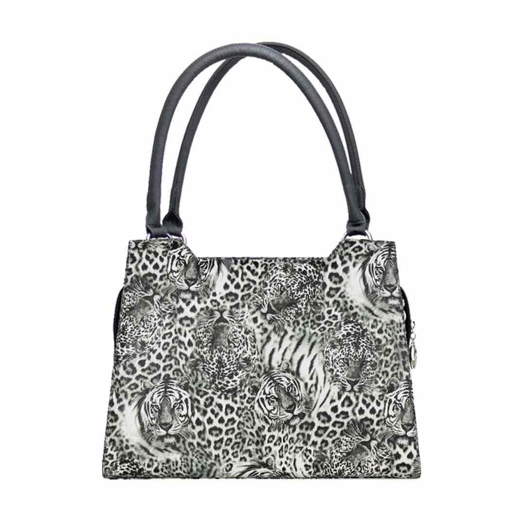 3 D Druck in schwarz Weiss Elegance Leopard komplett Set