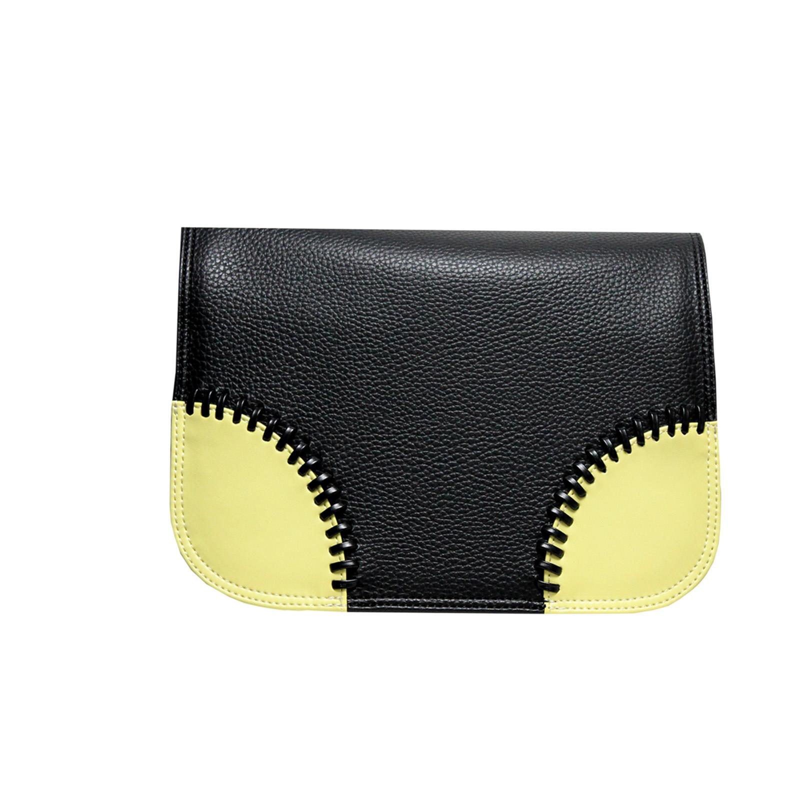 schwarzes Design mit gelben Ecken für die Handtasche von Delieta soft